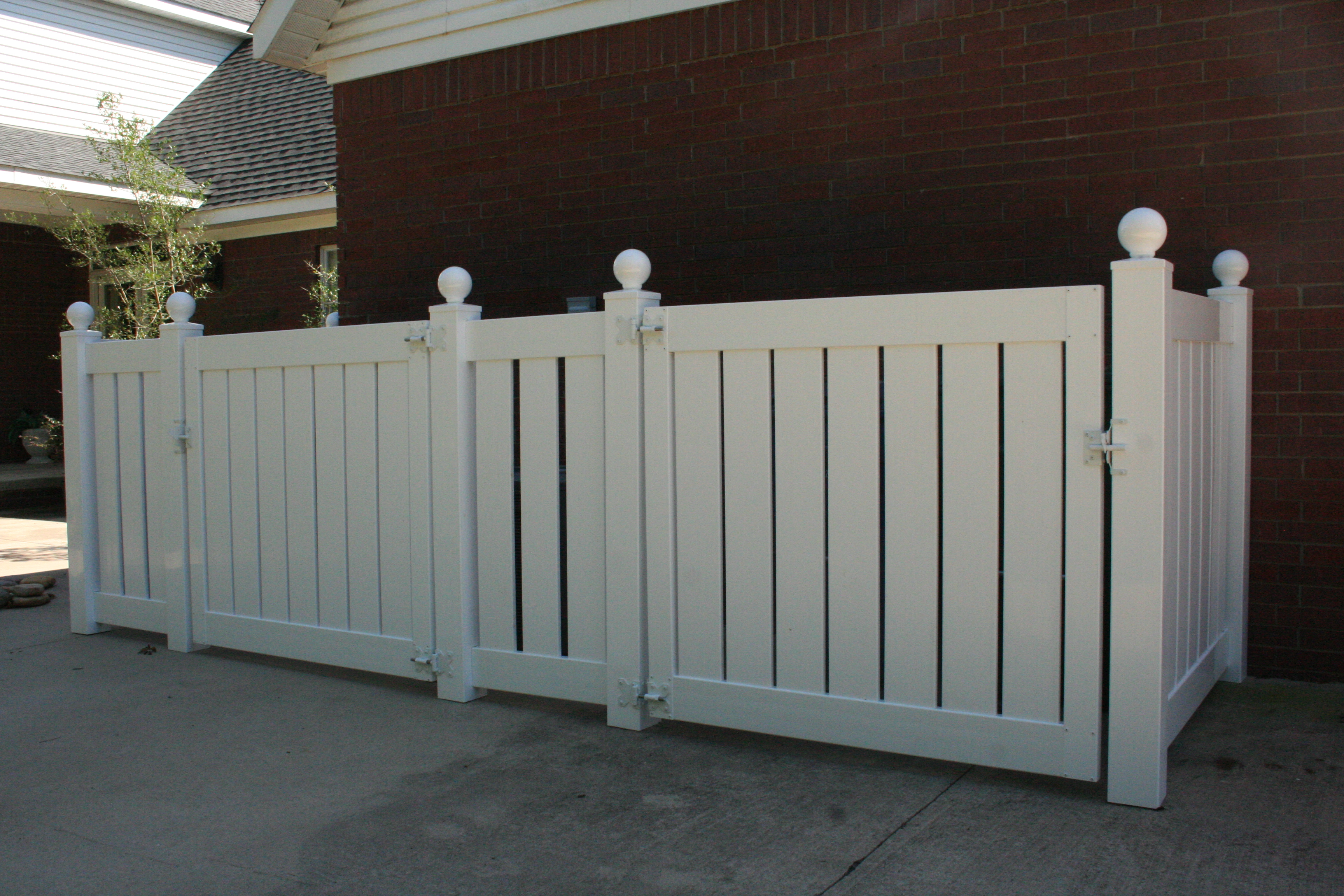Vinyl fencing legacy fencing conway ar vinyl fencing styles 5 semi privacy enclosure baanklon Choice Image