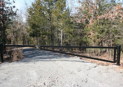 Steel barrier gate