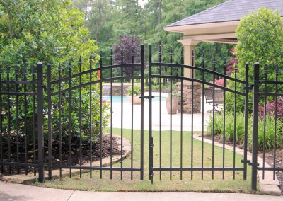 Arched steel double