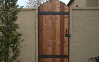 Steel framed wood gate