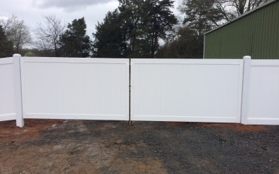 Vinyl Privacy on steel frame