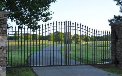 Estate steel arched gate